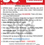 Chương trình TheFaceShop - Spring sale 2019 cùng Nam A Bank