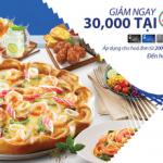 Giảm ngay 30.000 VNĐ với thẻ MB Visa tại The Pizza Company