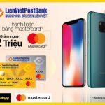 Ưu đãi cho thẻ LienVietPostBank MasterCard tại Thế Giới Di Động