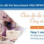 Ưu đãi ẩm thực dành riêng chủ thẻ Sacombank Visa Infinite
