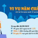 Vi vu năm châu với thẻ tín dụng quốc tế Sacombank