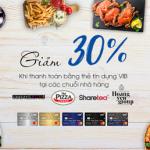 Cơn lốc ẩm thực - Giảm ngay 30% cùng VIB