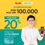 Hoàn 20% cho đơn hàng tại VinMart và VinMart+ khi thanh toán bằng thẻ ABBANK cùng cơ hội trúng xe máy VinFast Klara