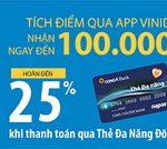 Quẹt thẻ đa năng Đông Á - Tích app VinID - Hoàn tới 100 điểm