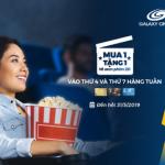 Mua 1 vé tặng 1 vé xem phim 2D tại Galaxy Cinema dành cho thẻ MB JCB