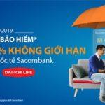 Thanh toán phí bảo hiểm được hoàn tiền 5% không giới hạn với thẻ tín dụng Sacombank