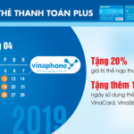 Vinaphone ưu đãi nạp tiền điện thoại cho chủ thẻ Sacombank Plus