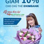 Yêu thương nhân đôi tại Hoayeuthuong.com với ưu đãi từ thẻ Eximbank