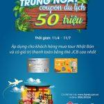 Nhận ngay coupon du lịch 50.000.000 đồng khi thanh toán tour Nhật bằng thẻ Quốc tế Eximbank JCB