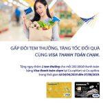 Thanh toán chạm bằng Eximbank Visa, nhận ngay tem thưởng - Tăng tốc đổi quà tại Co.opmart - Co.opxtra