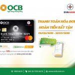 Thanh toán hóa đơn - Hoàn tiền bất tận cùng thẻ liên kết OCB và EVN Hà Nội