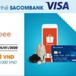 Shopee giảm 50.000 VND cho thẻ Sacombank Visa