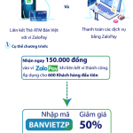 Tặng ngay 300,000 đồng khi liên kết thẻ ATM Bản Việt với ví ZaloPay