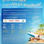 Thanh toán vé máy bay du lịch hè qua VietABank