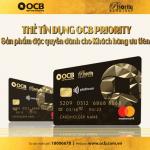 Thẻ tín dụng OCB Priority - Sản phẩm đặc quyền dành cho khách hàng ưu tiên