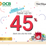 Thời trang thêu tay Ninh Khương giảm 45% cho chủ thẻ OCB