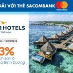 AccorHotels giảm 33% với thẻ Sacombank Mastercard