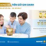 Chứng chỉ tiền gửi ghi danh lãi suất đến 8,4% của BaoViet Bank