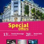 Ưu đãi đặc biệt dành cho chủ thẻ quốc tế Eximbank khi sử dụng dịch vụ tại Rex Hotel