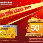 LienVietPostBank Mastercard khuyến mãi Mừng Quốc khánh 2019