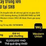 Giao dịch ngay - Nhanh tay trúng lớn cùng Western Union tại SHB