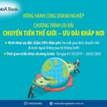 DongA Bank đồng hành cùng doanh nghiệp với chương trình Chuyển tiền thế giới - Ưu đãi khắp nơi