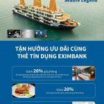 Thưởng thức dịch vụ cao cấp tại Du thuyền Sealife không lo về giá cùng Eximbank