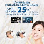 Ưu đãi giảm giá lên đến 25% cho chủ thẻ Eximbank khi đến với Thế Giới Sắc Đẹp