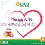 Gửi lời yêu thương nhân ngày 20/10 cùng thẻ OCB