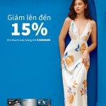 Ưu đãi giảm giá 15% khi đến mua sắm tại shop thời trang Emwear cùng Eximbank