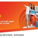 Vi vu nước ngoài, hoàn thêm 1 triệu với thẻ quốc tế MSB