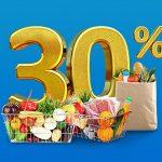Hoàn tiền 30% hóa đơn mua sắm tại siêu thị khi thanh toán bằng thẻ tín dụng VIB