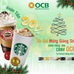 Hoàn tiền 20% tại Starbucks & Highlands Vincom Đồng Khởi dành cho thẻ OCB