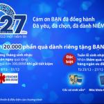 Mừng sinh nhật 27 năm, hàng ngàn quà tặng tri ân dành tặng khách hàng của Viet Capital Bank