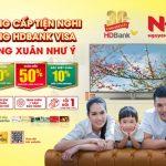 Giảm ngay 10% khi mua hàng tại Nguyễn Kim với thẻ HDBank Visa