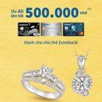 PNJ ưu đãi cho chủ thẻ Eximbank