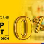 Tận hưởng cơ hội mua sắm tiết kiệm và hiệu quả với ưu đãi trả góp lãi suất 0% từ SHB