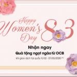Đến OCB nhận quà tặng ngọt ngào chào Quốc tế phụ nữ