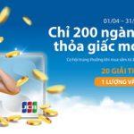 Chỉ 200 ngàn - Thỏa giấc mơ vàng với Sacombank JCB