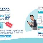 Đồng phí 2.200 VNĐ với mọi chuyển khoản liên ngân hàng trên Easy OceanBank Mobile