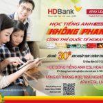 Hoàn ngay 30% học phí tại Apax Leaders khi thanh toán bằng thẻ HDBank