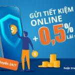 Gửi tiết kiệm Online, Sacombank cộng thêm 0,5% lãi suất