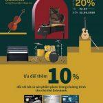 Đàn Piano Renaissance ưu đãi cho tất cả chủ thẻ Eximbank