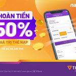 Hoàn ngay 50% giá trị khi nạp tiền điện thoại qua TPBank eBank