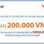 Ưu đãi mỗi tuần tại Uniqlo với thẻ Sacombank
