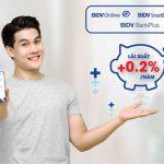 Gửi tiền online, nhận thêm ưu đãi cùng BIDV
