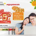 Giảm ngay 5% khi mua hàng tại Nguyễn Kim với thẻ quốc tế HDBank