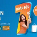 Hoàn tiền mua sắm với thẻ thanh toán Sacombank Plus