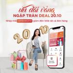 Ưu đãi vàng - Ngập tràn deal 20/10 khi mua sắm trực tuyến trên ứng dụng Agribank E-Mobile Banking