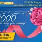 2000 đóa hồng yêu thương, CB dành tặng tới nữ khách hàng dịp 20/10